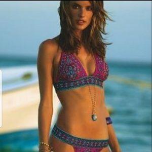 Victoria's Secret Magenta Paisley Bikini